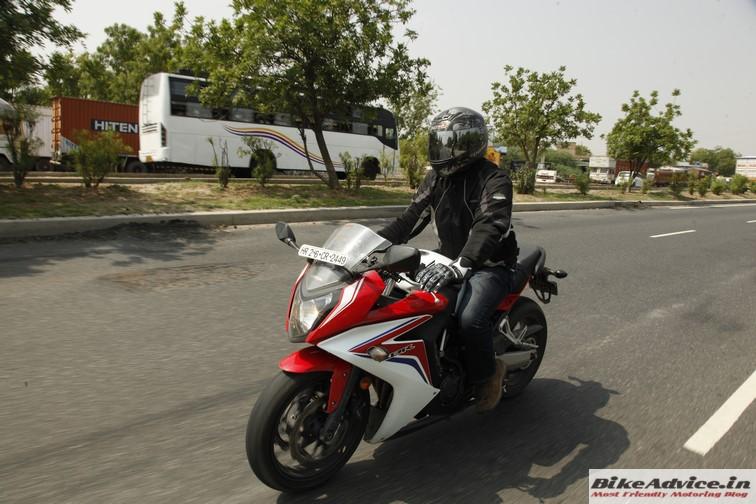 Honda CBR 650F motion 4