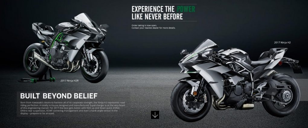 2017 Kawasaki H2 H2r And Limited Edition H2 Carbon Launched In India
