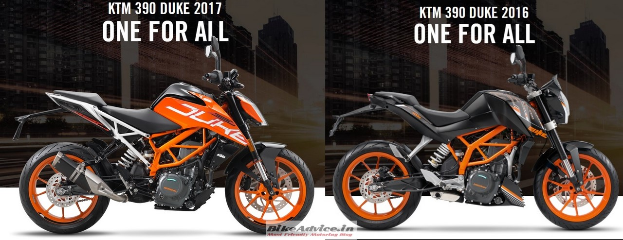 ktm duke 390 13 ways in which the 2017 edition differs from 2016. Black Bedroom Furniture Sets. Home Design Ideas