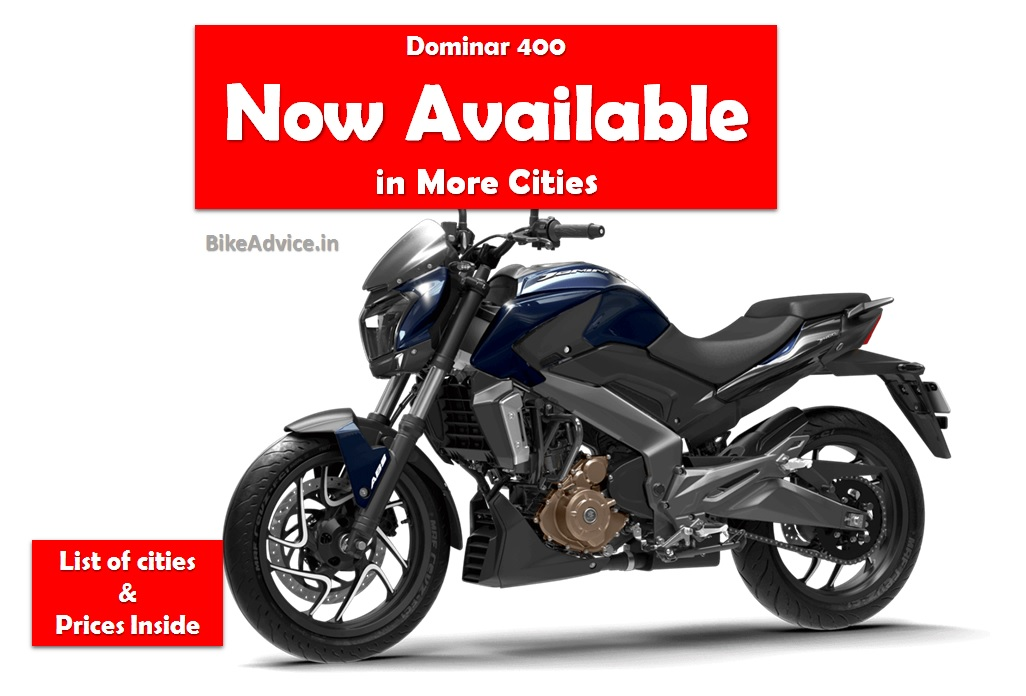 Dominar 400 Prices In All Cities Ex Showroom Amp On Road Prices