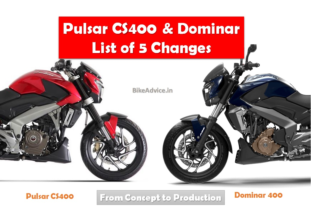 Pulsar Cs400 To Dominar 400 List Of 5 Changes