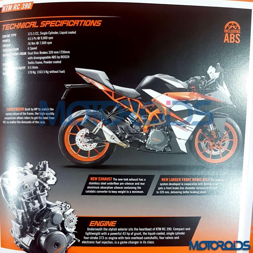2017 RC390 Brochure