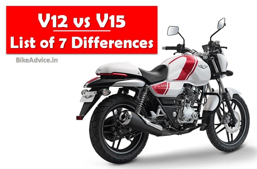 Bajaj V15 Vs V12 Differences Changes Tubeless Tyres A