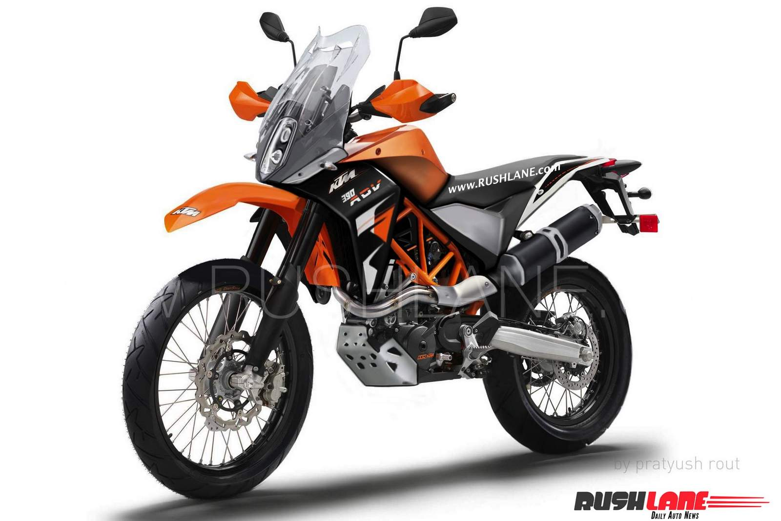 ktm 390 adventure launch render pics spy pics details. Black Bedroom Furniture Sets. Home Design Ideas