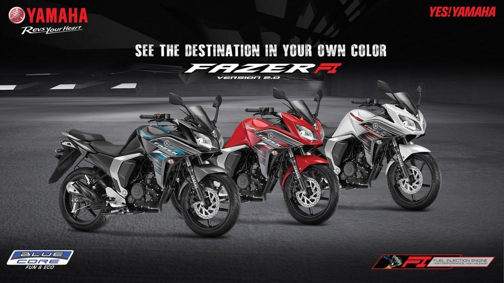 Yamaha fazer new colours 2018