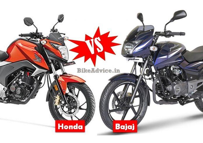 Honda vs Bajaj Motorcycle Sales