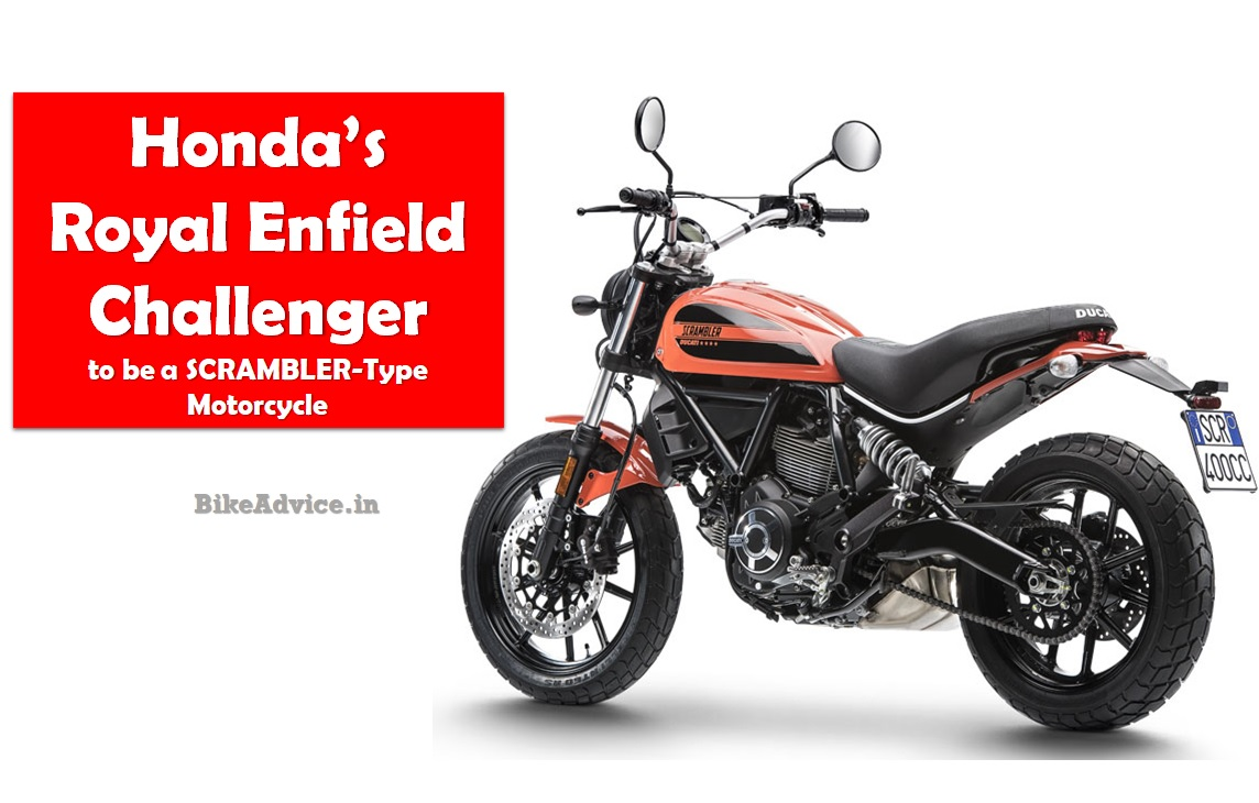 honda 39 s royal enfield challenger to be a scrambler type motorcycle. Black Bedroom Furniture Sets. Home Design Ideas