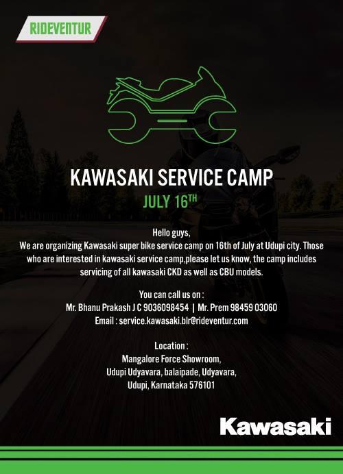 Kawasaki issues service camps