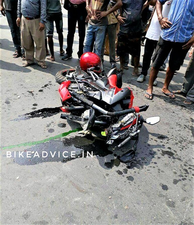Pulsar NS200 accident pics