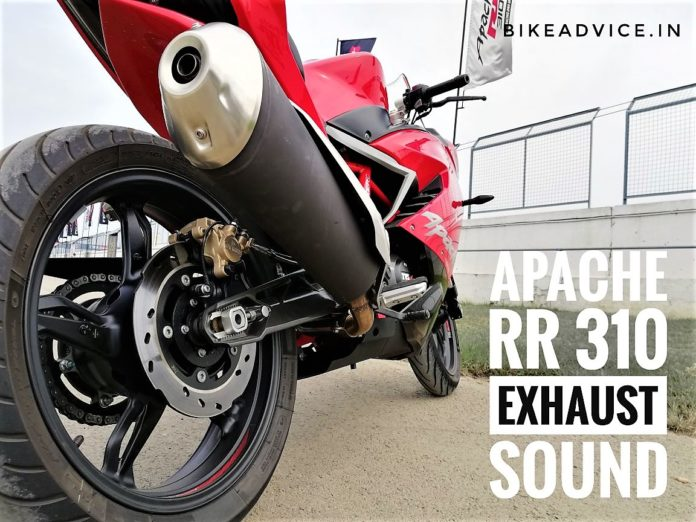 Apache 310 Exhaust Sound