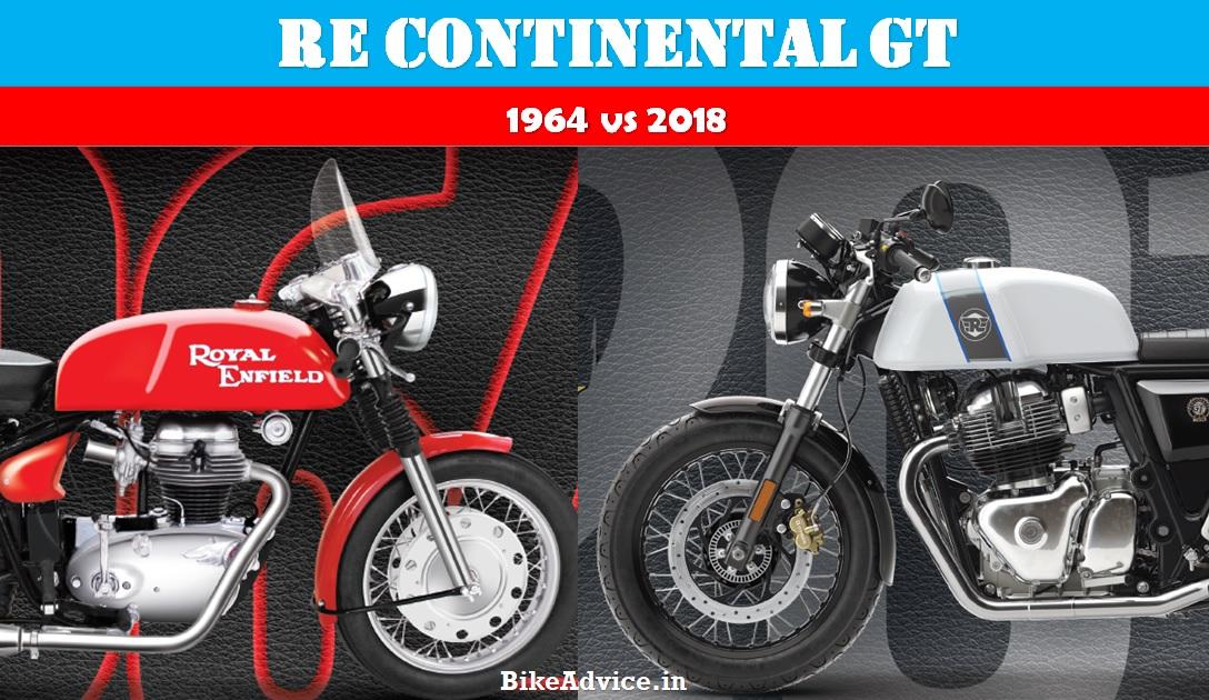 Royal Enfield Continental GT Old vs New – 1964 vs 2018