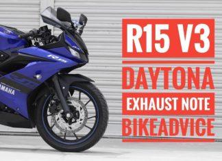 Yamaha R15 v3 Daytona Exhaust