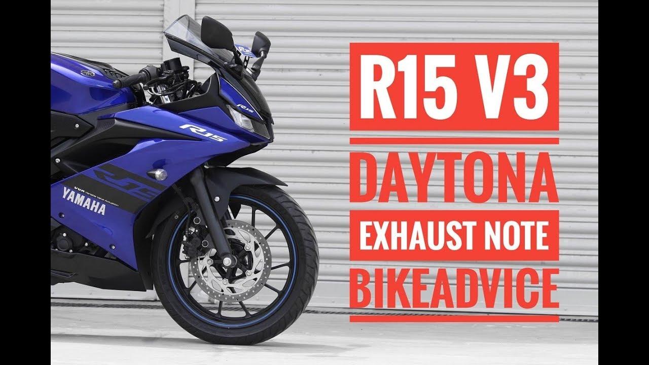 Yamaha R15 v3 Daytona Exhaust Sound Video & Price