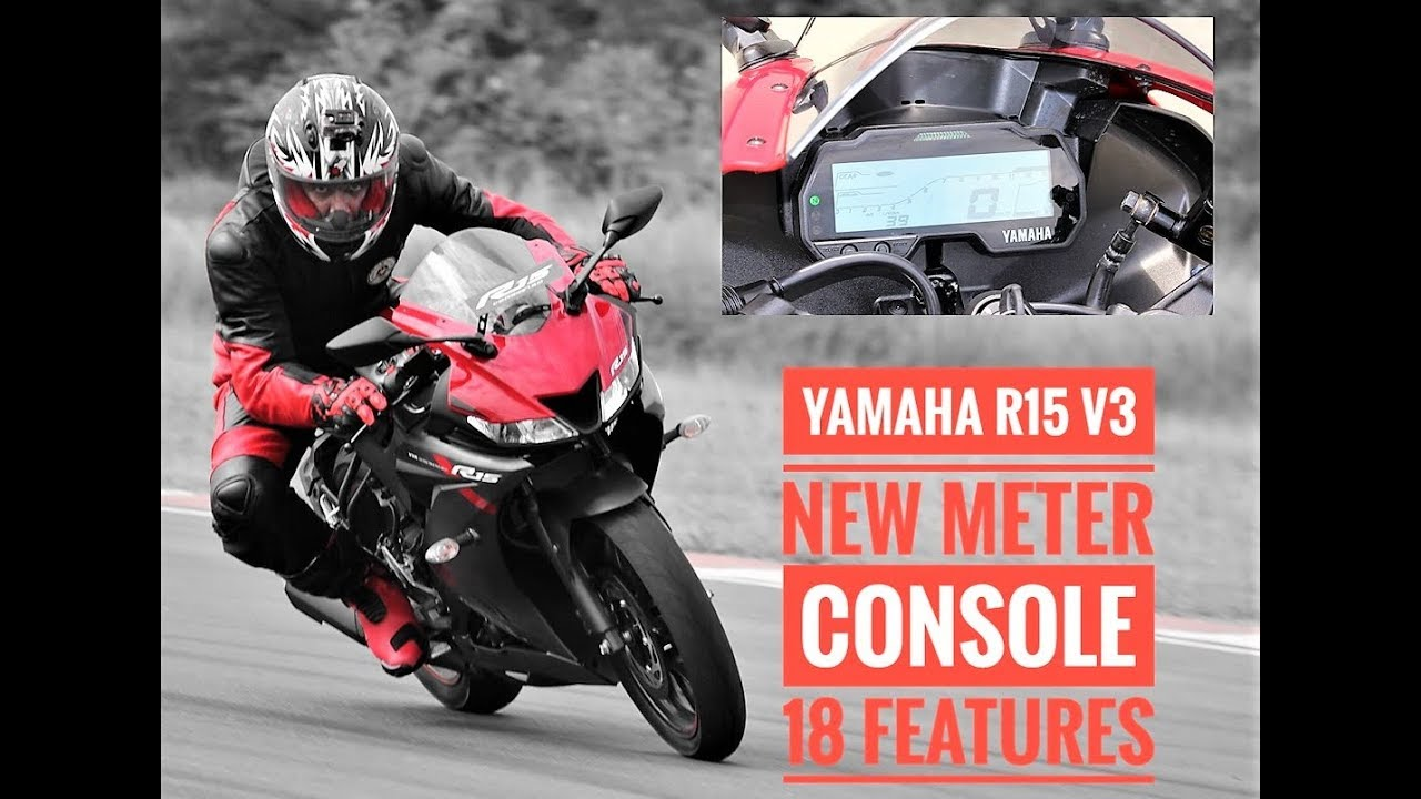 Yamaha R15 v3 Meter Gets 18 Features: Overview [Video]