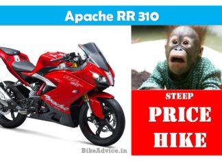 Apache 310 Price Hike