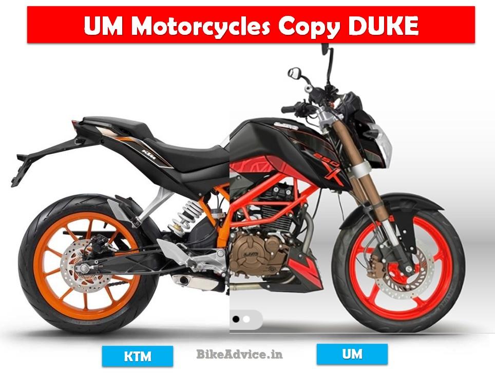 Um Motorcycles Introduce Xtreet 250x Copy Of Ktm Duke
