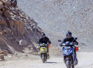 Khardungla Trip on e-Scooter