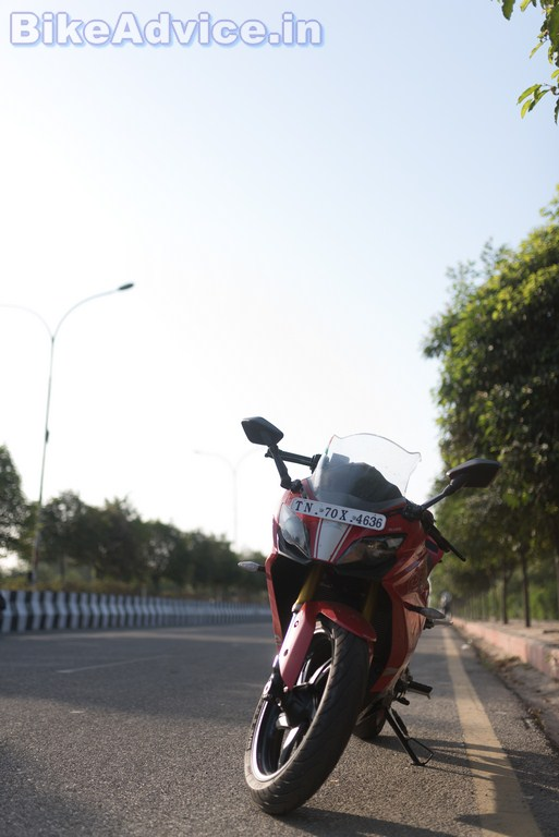 TVS Apache RR 310 review Michelin tyres
