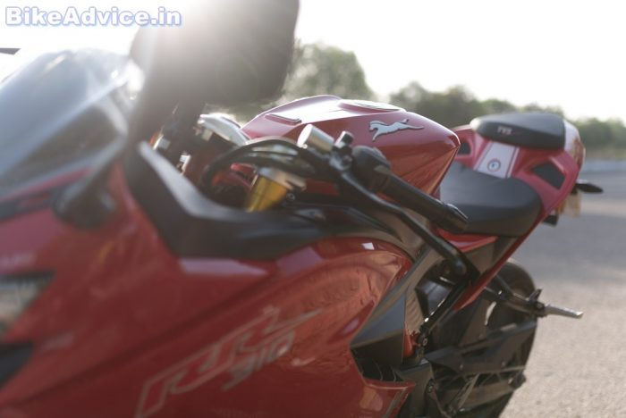 TVS Apache RR 310 review colors