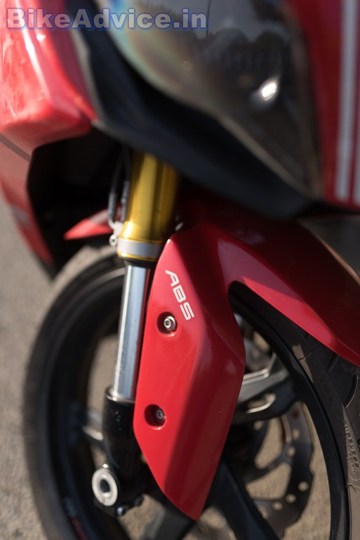 TVS Apache RR 310 review dual channel ABS