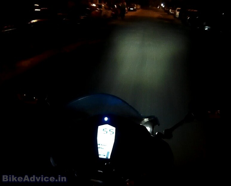 TVS RR 310 projector LED headlamp high beam