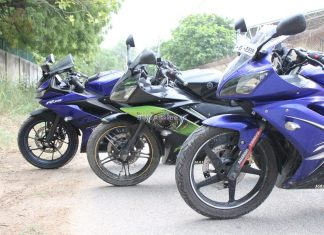 Yamaha YZF R15 V3 vs V2 vs V1 comparison shootout