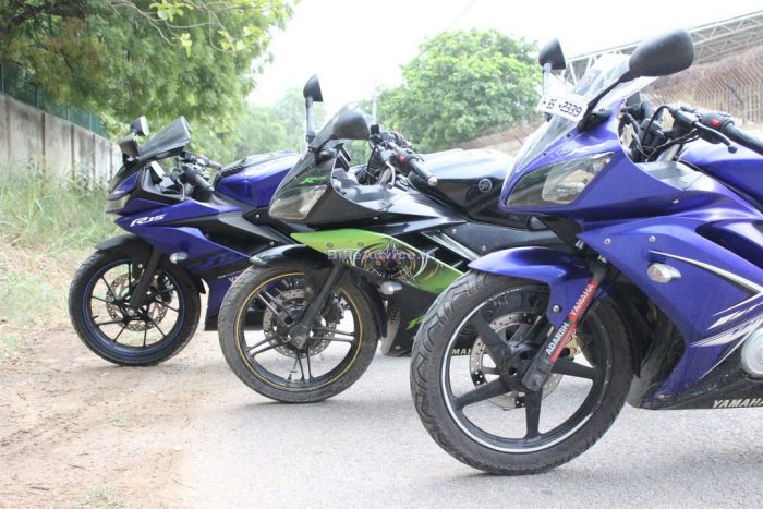 Yamaha YZF R15 V3 vs V2 vs V1 comparison shootout