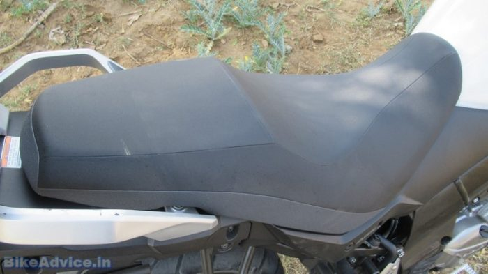 V-Strom review seat comfort