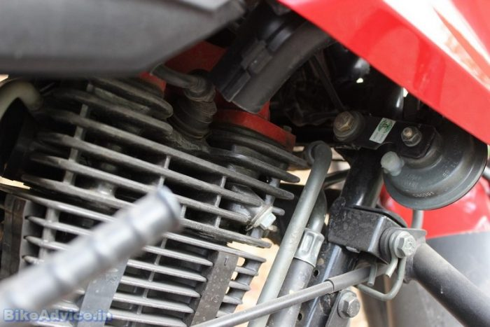 tvs apache rtr 160 4v review ram air cooling duct
