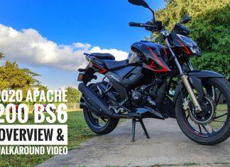 Apache 200 BS6 Video