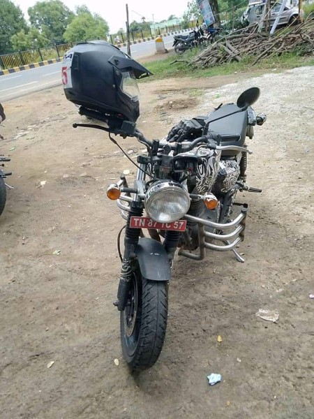 Royal Enfield hunter spy pics