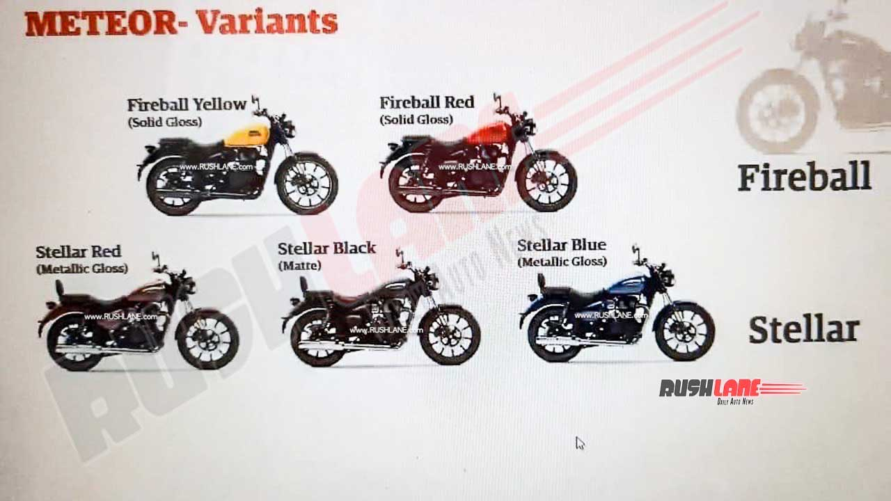 Leaked Re Meteor 350 Brochure Reveals Many New Details
