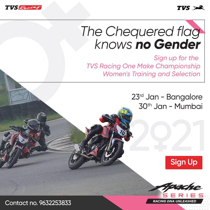women racing training