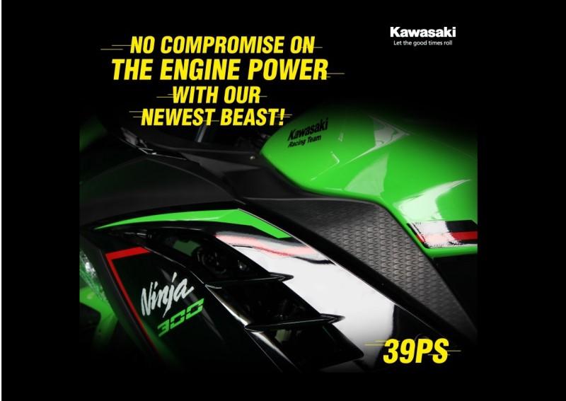 Ninja 300 BS6 power