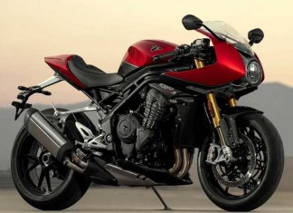 speed triple RR red hopper storm greycolor