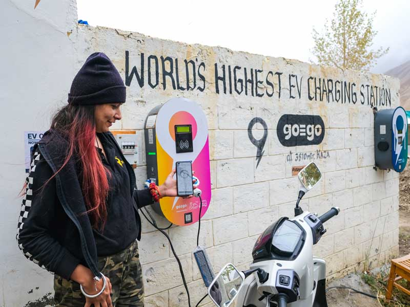 charging station at Spiti Valley